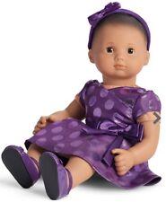 NIB American Girl Bitty Baby Twin Purple Holiday Polka Dot Dress Outfit NEW!