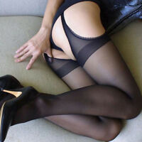Women Sheer Pantyhose Socks Tights Lace Fishnet Stockings Hold Up Sexy Plus Size