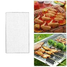 Stainless Steel BBQ Grill Grate Grid Wire Mesh Rack Cooking Replacement Net L8X7