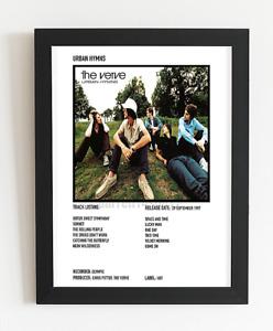 The Verve Poster Urban Hymns Album Art Polaroid Style Rock Poster A5,A4,A3