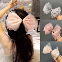 Kids Girls Sequin Star Mesh Bowknot Hair Clip Pin Headwear Hairpins Hair Access