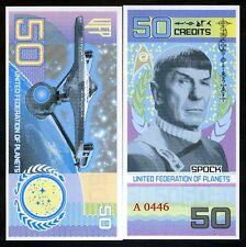 United Federation of Planets, 50 credits, 2017, Mr. Spock, Star Trek, Polymer
