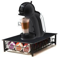 Negro 56 titular de la cápsula Café Pod Tassimo T-DISC Dispensador Cajón Almacenamiento Soporte