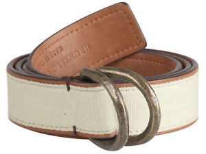 """Brunello Cucinelli women's leather belt buckle gray size S Italy 40 US 4"""" GB 8"""