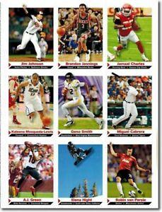 2012 Jim Johnson SPORTS Illustrated 9 Scheda Lotto Uncut Foglio Baltimore