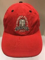 Ahead US Open 2003 Olympia Fields Golf Cap StrapBack Hat Red Men OSFA