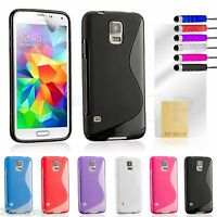 S line Gel Silicone CASE COVER For Samsung Galaxy S4 / S5  FREE SCREEN PROTECTOR