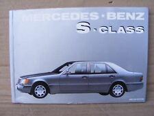 Mercedes Book S Class Owner's Manual   W140 S Class