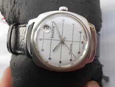 USED RARE VINTAGE SWISS MADE WHITE DIAL FORTIS TRUELINE MENS AUTOMATIC WATCH