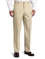 Dockers Men Mobile Pocket Khaki D4 Relaxed Fit Flat Front Pant - 36W x 29L