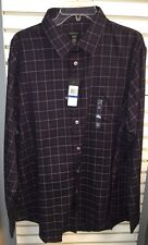 New Mens Van Heusen Premium No Iron Long Sleeve Shirt Sz XXL Lingonberry MSRP$54