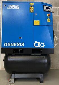 ABAC Genesis 15 Receiver Mounted Rotary Screw Compressor + Dryer! 15Kw, 70Cfm!