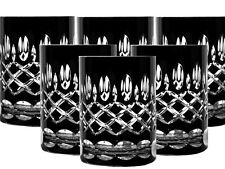 Lead Glass Whisky Glasses Roman 6 Piece (298CAR) Black Crystal Whisky Glass