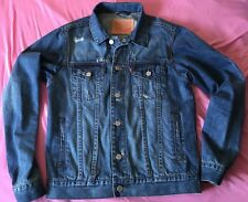 BLUE WASHED  LEVI'S SLIM FIT TRUCKER DENIM JACKET VESTE  M SIZE