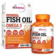 St.Botanica Fish Oil Omega 3 (60 Enteric Coated Softgels) Free Shipment