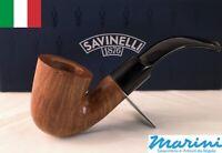 Tubo pipe pfeife Savinelli grezza cerata 621 Bent Dublin filtro 9 mm italy