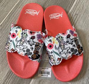 Disney Store Animators Princesses Girls Slide Sandals Size 11/12 *NEW*