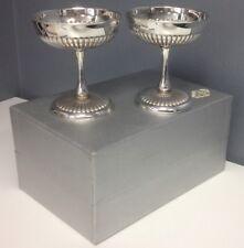 EBERLE SILVERPLATED Vintage Set Of 2 Stemmed Cocktail Bar Goblets 4.25 Inch SR