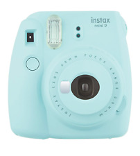 Fujifilm Instax Mini 9 Ice Blue Instant Camera Polaroid Selfie Mirror Automatic