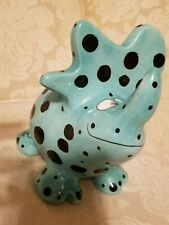 DINOSAUR PIGGY BANK HAND PAINTED MADE IN CHINA BY GANTZ COLLECTABLE 7 x 7 in