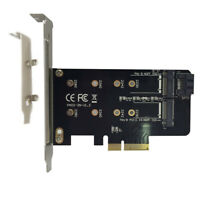 Dual M.2 PCIe Adapter M2 SSD NVME M Key 2230 2242 2260 2280 Support Card