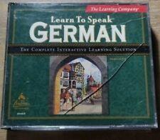 The Learning Company Learn to Speak German- (3CD, 1998, Windows)