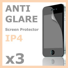 3 x Anti-Glare Matte LCD Screen Protector Skin Film for Apple iPhone 4S 4G 4