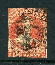 New Zealand 1864 1d Chalon wmk NZ SG 97 imperf used CV £350