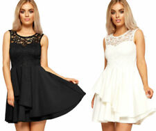 Polyester Lace Dresses for Women with Ruffle