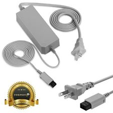 Fosmon AC Wall Power Supply Adapter Charger Cable Cord for Nintendo Wii Console