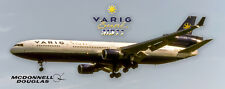 Varig Brasil Airlines MD-11 Handmade Photo Magnet (PMT1674)