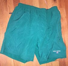 Vintage Polo Sport Bathing Suit Size Men's Large Spell Out Shorts Summer Swiming