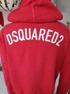 Roter DSQUARED2 Zip Hoodie, Kapuzenjacke Neuwertig Fehlkauf