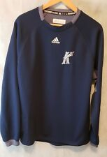 Charlotte Knights Women's long sleeve top w/hand warmer sleeve, Blue, Large.