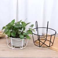 Hanging Plant Iron Racks Round Flower Pot Rack Garden Suppli*^