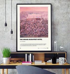 The Grand Budapest Hotel (2014) Premium Minimal Gloss Poster Print Professional