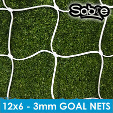 3 mm Knotted Football Goal Nets Mini Soccer - 12ft X 6ft - 3mm Knotted Nets