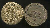 PEROU  cob de 8 escudos    1727   COLLECTION BP  ( bis )