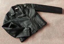 Bluezoo Debenhmas Girls 8 Years Kids Clothes Black Faux Leather Biker Jacket
