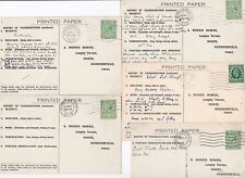 1927/36 5 x WINCHESTER HAMPSHIRE THUNDERSTORM CENSUS POSTCARDS TO MORRIS BOWER