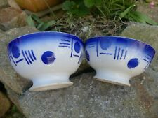 2 Bols anciens 2 old French bowls one in good condition the second with 3 little