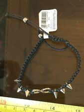 Claires Claire's Infinity Bracelet Wristband Black Gold Spike Spiked Jewellery