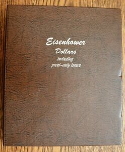 Complete EISENHOWER Dollar set Dansco Album 32 coins Dad's estate Silver-Proofs