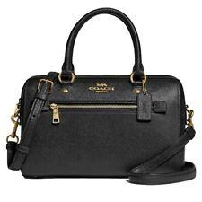 Coach F79946 Rowan Satchel Bag in Crossgrain Leather Black