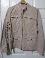 CASLON Nordstrom XL Cotton Khaki Full Zip Jacket Women's CL