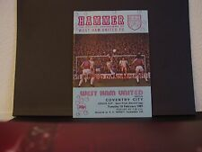 WEST HAM UNITED v COVENTRY 1980-81 ~  LEAGUE CUP SEMI FINAL 2ND LEG ~ EX COND