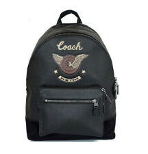 Coach West Backpack with Easy Rider Motif Black Leather