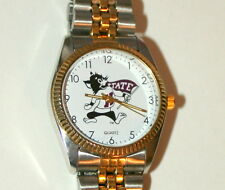 1980s Nelsonic Kansas State University Wildcats Team 2 tone Mens Watch New NOS