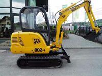 JCB 802 802.4 802 Super Mini Crawler Excavator Workshop Service Manual
