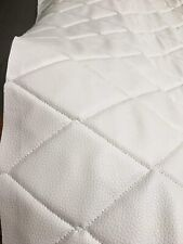 Vinyl Upholstery white 4x6 Diamond Quilted fabric 3/8